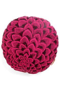 It's a Dahlia Pillow - Cotton, Pink, Dorm Decor