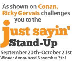 #justsayinapp #rickygervais #conan #jokecontest #comedian