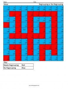 Maze- Multiplication Regrouping cool math worksheets