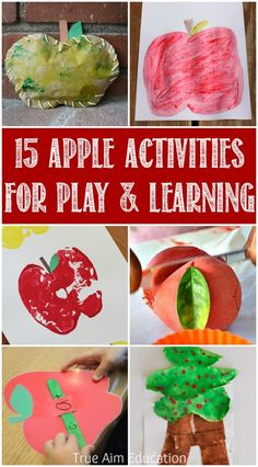 15 Apple Activities for Play and Learning - Preschool Science, math, reading and more!