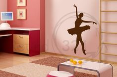 Ballerina Wall Decal Open Arms  Medium  for Girls by Round321, $45.00