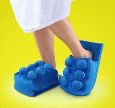 Pantuflas en forma de bloques Lego
