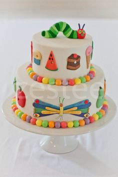 the hungry hungry caterpillar cake! First birthday theme?