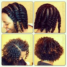 Love her flat twist out! Great definition...