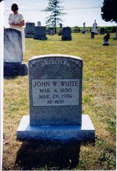 John W. White Tombstone, Bethlehem Lutheran Church #genealogy #familyhistory