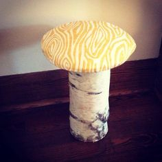 via www.thehomeslice.ca Easy Saturday morning DIY - a cute little mushroom stool with some @Tonic Living fabric #tonicliving #blogpodium #tonicfabricfun — with Tonic Living.