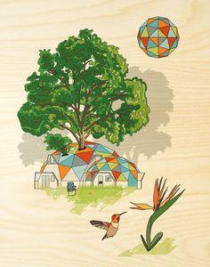 wood print, natur design, cole gerst, art, nature design, design wood, prints, paintings, print 11x14