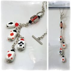 Poker Aces Car Charm - Rear View Mirror Car Accessories by OurBeadBox, $20.00
