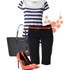 """""""Coral Accents"""" by sharon-grisnich on Polyvore"""
