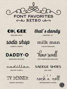 Font Favorites – Retro