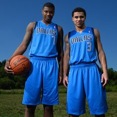 Ricky Ledo and Shane Larkin of the Dallas Mavericks pose for a portrait during the 2013 NBA Rookie Photo Shoot on August 6, 2013 at the MSG Training Facility in Tarrytown, New York. (Photo by Jesse D. Garrabrant/NBAE via Getty Images)