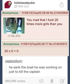 The time they went down with the ship. | 32 Times Tumblr Was Too Clever For Its Own Good