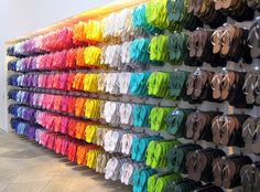 Old Navy anyone? colorful fashion, heaven, colors, flip flops, flipflop, closet, shoe, rainbow, old navy
