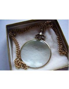 Vintage Avon Necklace Magnifying Glass Pendant