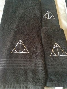 Harry Potter Deathly Hallows Bath Towel Set by MichellesMinagerie, $25.00