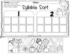 Fall literacy and math activities for Kindergarten.