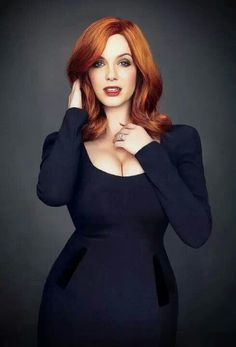 Christina Hendricks, Love her dress and the color is amazing with red hair