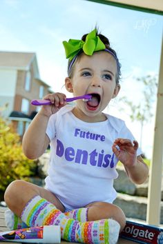 Future Dentist Baby Onesie  #WinterHaven #Futuredentist, #dental humour, #family dentist www.southridgedental.ca