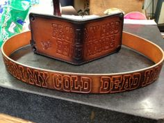 Custom Men's Leather Belt:  From My Cold Dead Hands