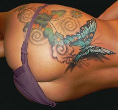 Women Thigh Tattoo