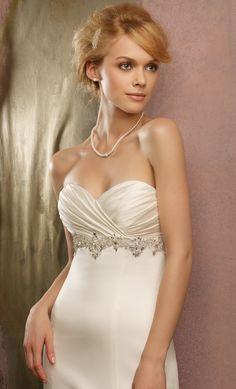 Amazing jewelry top vintage strapless wedding dresses