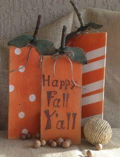 Super Craft Saturday: Fall Wood Pumpkins