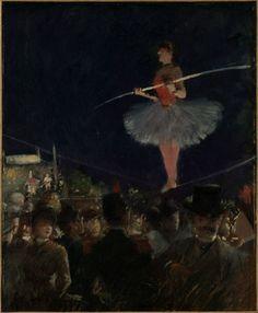The Tightrope Walker    circa 1885    Jean-Louis Forain