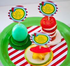 Dr Seuss food table cat in the hat printable logos~by Anderson Ruff