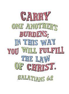 HomeLife Magazine — Printable Scripture Word Art: Galatians 6:2