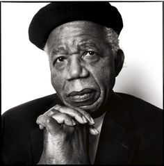 Achebe at home in Annandale-on-Hudson. Photograph by Steve Pyke.