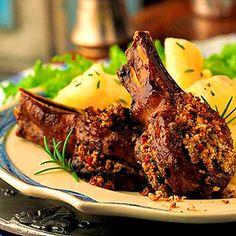 Lamb Chops Au Poivre