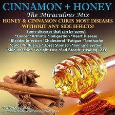 Cinnamon and honey - good Medicine