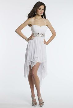 Camille La Vie Short Party Prom Dress in High-Low Silhouette