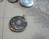 Compass Wax Seal Pendant