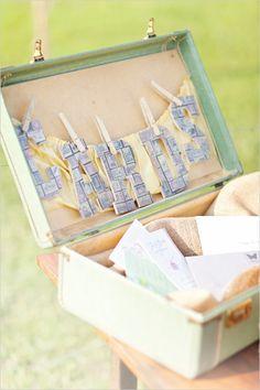 wedding cards, vintage suitcases, bachelorette parties, vintage weddings, vintag box