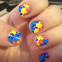 jamberry nails | Autism Awareness Jamberry nails! Nicole Jessop, Independent Jamberry Nail Consultant - Shop at: http://nicjessop.jamberrynails.net