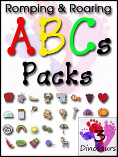 3 Dinosaurs - Romping & Roaring ABC Packs She now has all the packs for every letter of the alphabet!