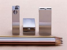 pencil sharpeners by Torsten Neeland over at Omami.ru. Love the simplicity of the shape and the height of the sharpener.
