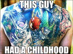 Dragonball Z tattoo