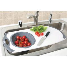 Over-the-Sink Strainer Board w/Silicone Strainer DEXAS INTERNATIONAL LTD,http://www.amazon.com/dp/B0024VFMUQ/ref=cm_sw_r_pi_dp_yV7ntb0FX75G3SY1