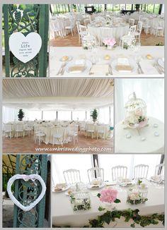 Pauline and Matthew's Villa Baroncino Wedding - Marquee - Vintage decor www.romanticitalianweddings.com