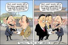 Tony's China Plate, Leak, The Australian | Political Cartoons Australia