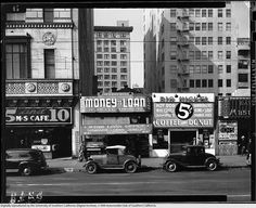 Main Street, between 6th and 7th Street, Los Angeles, 1940's