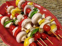 grilled veggie skewers (#kebabs) by @Matty Chuah Feud with Food
