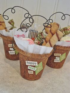gift baskets, party favors, garden parties, diy gifts, peat pot, hand made, craft ideas, gift idea, basket gift