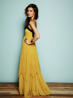 Pretty long dresses, maxi dresses, style, color combos, the dress, gown, black, lace dresses, mustard yellow