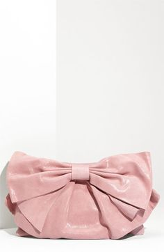 Valentino Leather Bow Clutch.