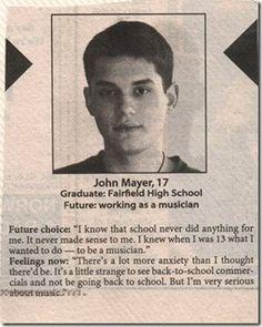 17 year old John Mayer