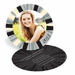 Round Graduation Party Invitations - love this unique look!