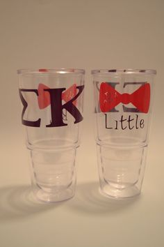 Personalized BIG LITTLE sorority tumblers with by BizzyMrsB, $25.00
